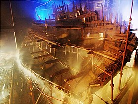 Mary Rose under konservering i Portsmouth