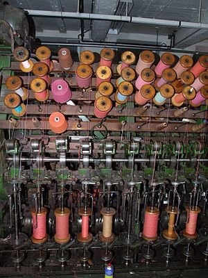 Doubling (textiles) - Image: Masson Mills WTM 6 Doubling 5851