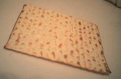 "Machine-made matzo, the ""official"" food of Passover"