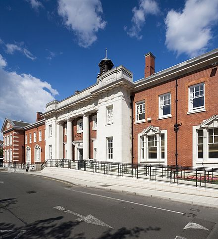 The Institute of Psychiatry, Psychology & Neuroscience at the Denmark Hill Campus enjoys a long history with the South London and Maudsley NHS Foundation Trust Maudsley Hospital Main Building.jpg