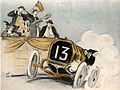 May Wilson Preston, Without cutting down her speed, bumped home the winner, Tish Mind over Motor, 1916.jpeg