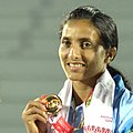 Mayookha Jhony (INDIA) won Gold Medal in women's Long Jump, at the 12th South Asian Games-2016, in Guwahati on February 09, 2016 (cropped).jpg