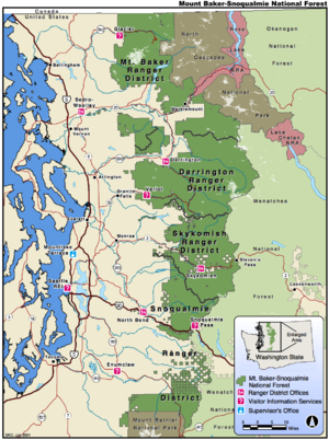 Mount Baker-Snoqualmie National Forest - Map of the Mount Baker-Snoqualmie National Forest