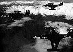 McDonnell F2H-2 Banshees of VF-34 in flight, circa in 1952.jpg