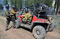 McRae Fire. Firefighters discussing strategy. Polaris Ranger ATV.jpg