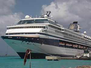 Oranjestad, Aruba - The MV Celebrity Mercury docked in 2008