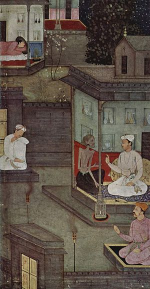 Yoga Vasistha - A painting from the Persian translation of Yoga Vasistha manuscript, 1602