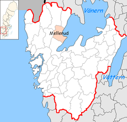 Mellerud Municipality in Västra Götaland County.png