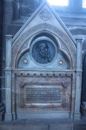 James Hedderwick - Memorial to James Hedderwick, Glasgow Cathedral