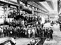 Men in business suits posed with a South Australian Railways 500 class steam locomotive under construction at Armstrong Whitworth's Scotswood Works, Newcastle-Upon-Tyne (HTSA item GN11928).jpg