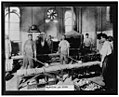 Men pouring melted metal into molds in the Government Printing Office, Washington, D.C. LCCN00651354.jpg