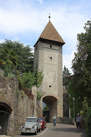 Gates of Meran - Passeier Tor in the north