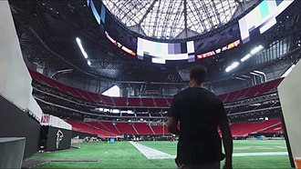 Mercedes-Benz Stadium - Interior of the stadium in August 2017