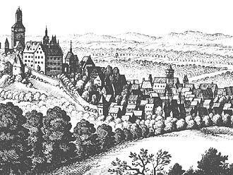 Kronberg im Taunus - Merian-Stich Cronberg in 1655.