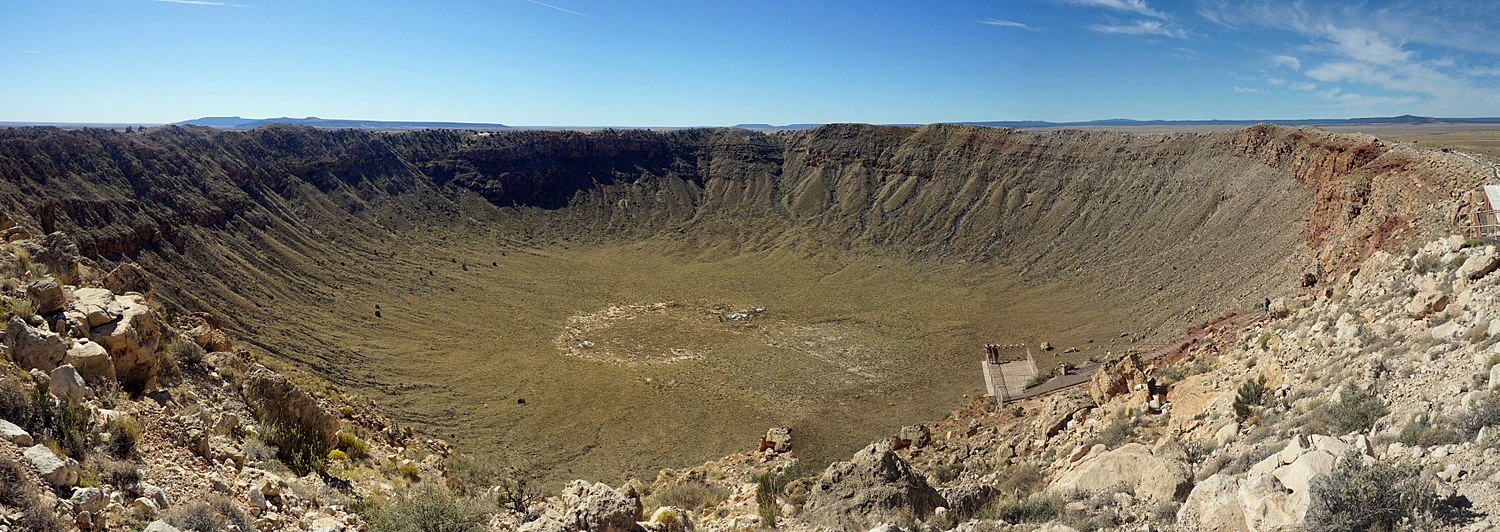 Barringer Meteorite Crater, Flagstaff, Arizona, United States.