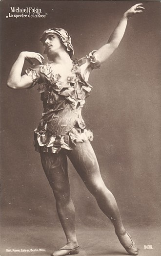 Michel Fokine - Fokine as the spectre in a 1914 production of the Ballets Russes' Le Spectre de la rose