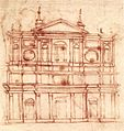 Michelangelo, Project for the façade of San Lorenzo, Florence.jpg