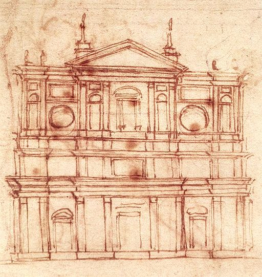 Michelangelo Buonarroti. Project for the Façade of San Lorenzo in Florence, 1516