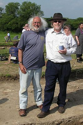 Mick Aston (links) in 2005 met Tim Taylor