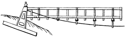 Micklewood Bridge as illustrated by Charles Drewry, 1832 Micklewood-bridge.png