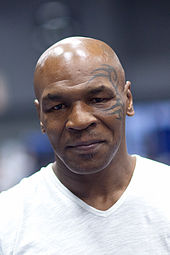 Mike Tyson looking to the camera.