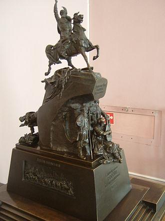 Bohdan Khmelnytsky Monument, Kiev - Image: Mikeshin Khmelnitsky