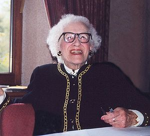 Millvina Dean - Millvina Dean signing autographs at the Titanic Convention in Southampton in April 1999