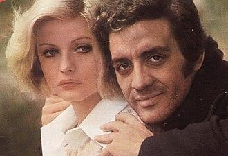 Ewa Aulin - Ewa Aulin with singer Mino Reitano (1973)