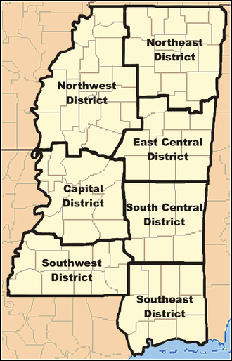 Mississippi Forestry Commission - Mississippi Forestry Commission Districts