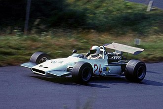 Gerhard Mitter - Gerhard Mitter driving the BMW F269 at the Nürburgring shortly before he was killed, August 1, 1969