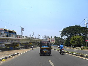 Kollam Cantonment - Model road and Railway overbridge in Kollam Cantonment