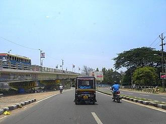 Kollam Cantonment - Model road and Railway overbridge in Kollam Cantonment