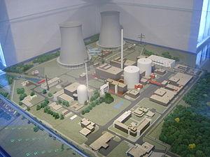 Gundremmingen Nuclear Power Plant - Scale model of the Gundremmingen plant, in the information center