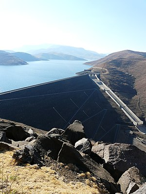Lesotho Highlands Water Project - Mohale Dam and reservoir