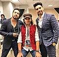 Mohit Chauhan, Mika Singh and Armaan Malik together.jpg
