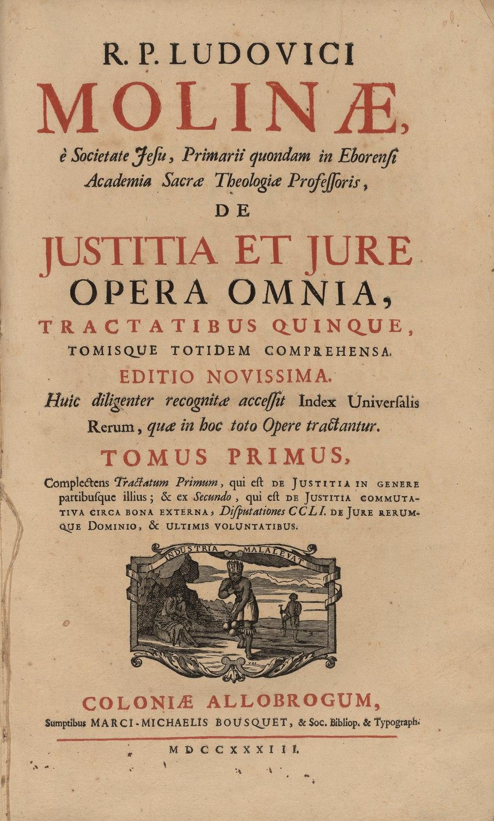 Molina - De iustitia et iure, 1733 - 4495353