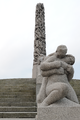 Monolith and sculpture in Vigeland Installation in Frogner Park in Oslo Norway.png