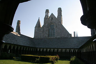 Mont Saint Michel Abbey - The cloister