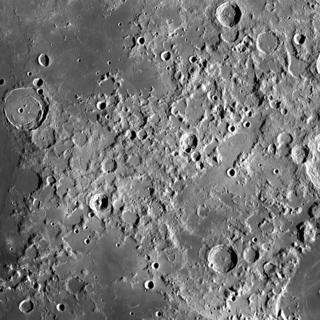 Montes Taurus rugged, jumbled mountainous region on the Moon
