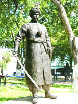 Bohdan Khmelnytsky - Monument dedicated to Bogdan Khmelnytsky in Kiev, Ukraine. The authors are Boris Krylov and Oles Sydoruk.