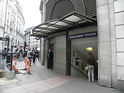 Monument station west entrance.JPG