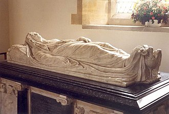 Thomas Bruce, 1st Earl of Elgin - Effigy in the Church of St Peter and St Paul, Exton, to Anne Chichester (d.1627) (Countess of Elgin), daughter of Sir Robert Chichester.