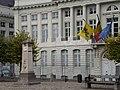 Monument to Jenneval, Brabançonne poet; & Flemish Prime Minister's Office; Brussels, Belgium 2 (4040057526).jpg