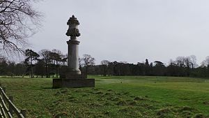 John Egerton, Viscount Alford - Monument to Viscount Alford erected by his father in the grounds of Belton House, Lincolnshire.