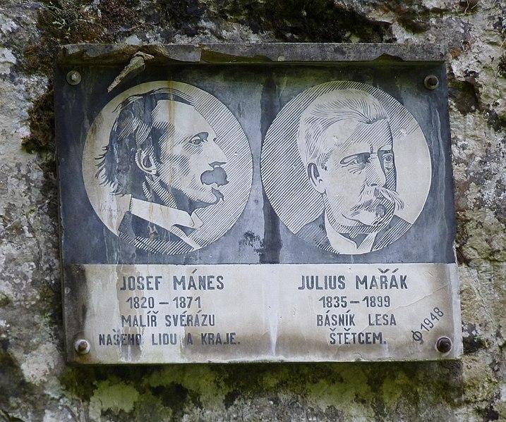 File:Moravský kras, Býčí skála (plaketa).JPG