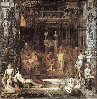 "Thespius - Gustave Moreau, ""Daughters of Thespius"""