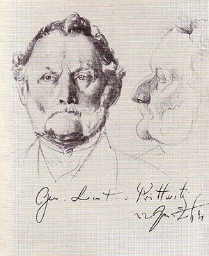 Moritz Karl Ernst von Prittwitz - Moritz von Prittwitz (Adolph Menzel, Nationalgalerie Berlin)