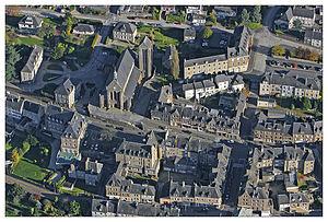 Vue aérienne du centre ville.