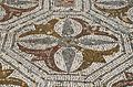 Mosaic floor with geometric and naturalistic motifs, Roman Villa of Pisões, Lusitania, Portugal (13171062725).jpg
