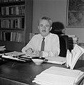 Moshe Sharett, voorzitter van de Jewish Agency, in zijn werkkamer, Bestanddeelnr 255-4727.jpg